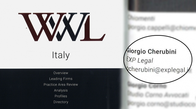 Who's who legal. Restructuring & insolvency 2018, ITALY.