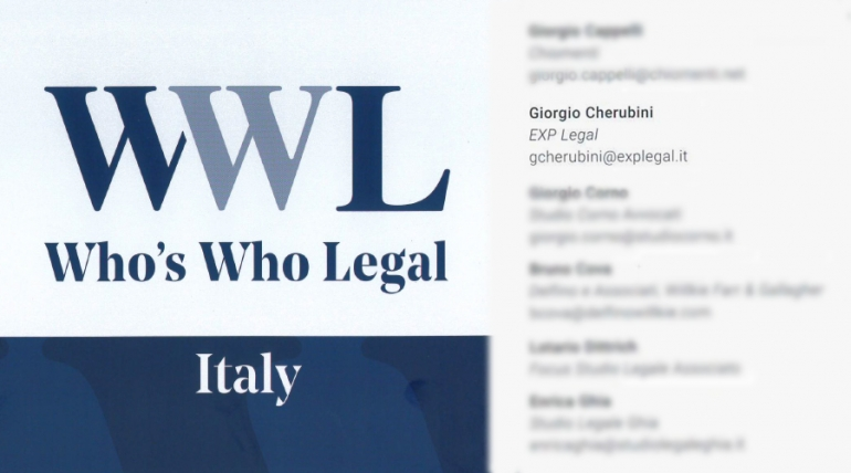 Who's who legal. Restructuring & insolvency 2020, ITALY.