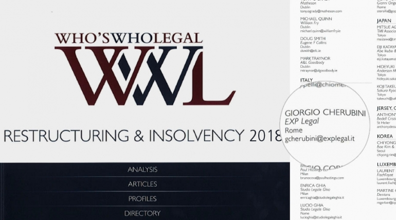 Who's who legal. Restructuring & insolvency 2018